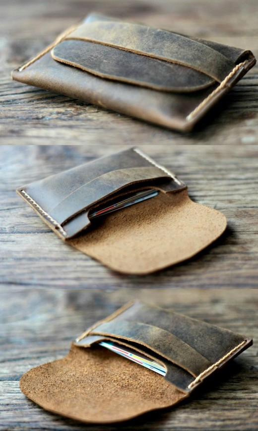 Mens Leather Card Wallet $19.00