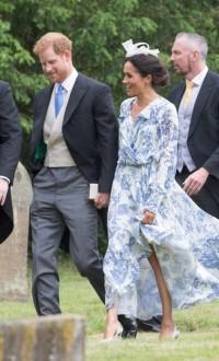 Платье не по размеру и несуразная шляпка: на свадьбе племянницы леди Ди Меган Маркл совершила модный промах